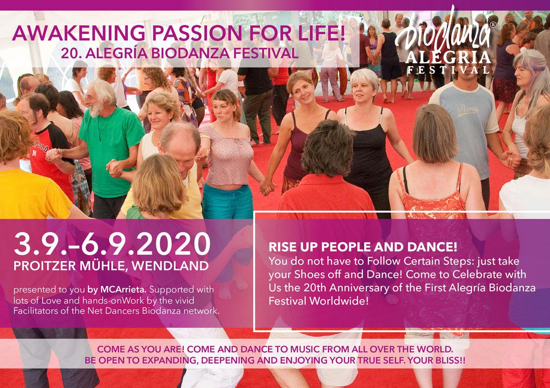 Flyer Biodanza Festival 2020 frontpage